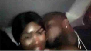 Davido And His South African New Babe Loved Up Inside A Car (Photos)